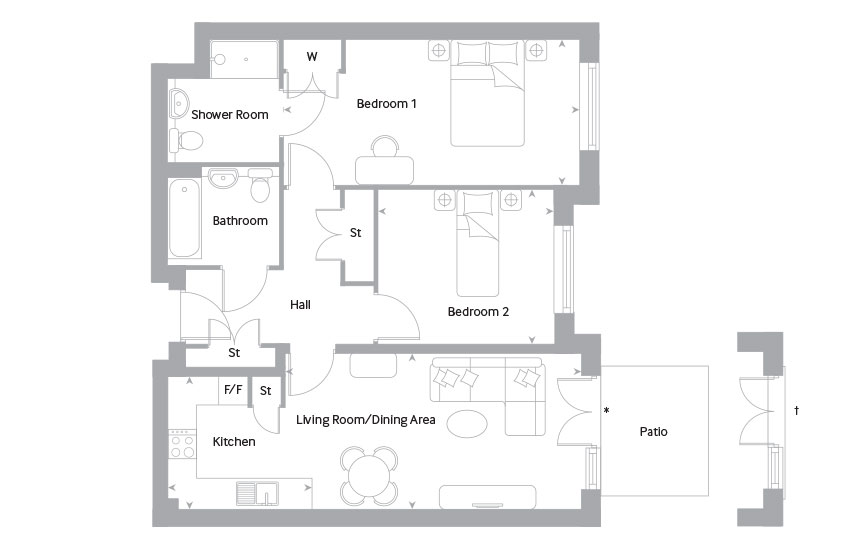 The Lewen 3 floor plan
