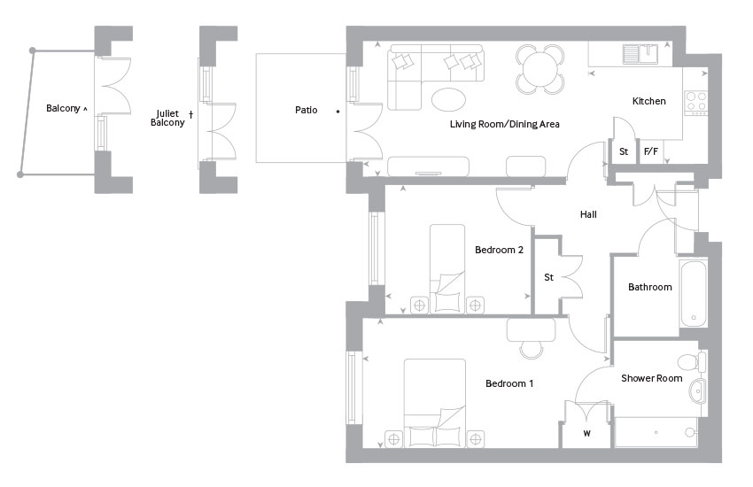 The Lewen floor plan