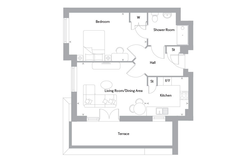 The Bourne 2 floor plan