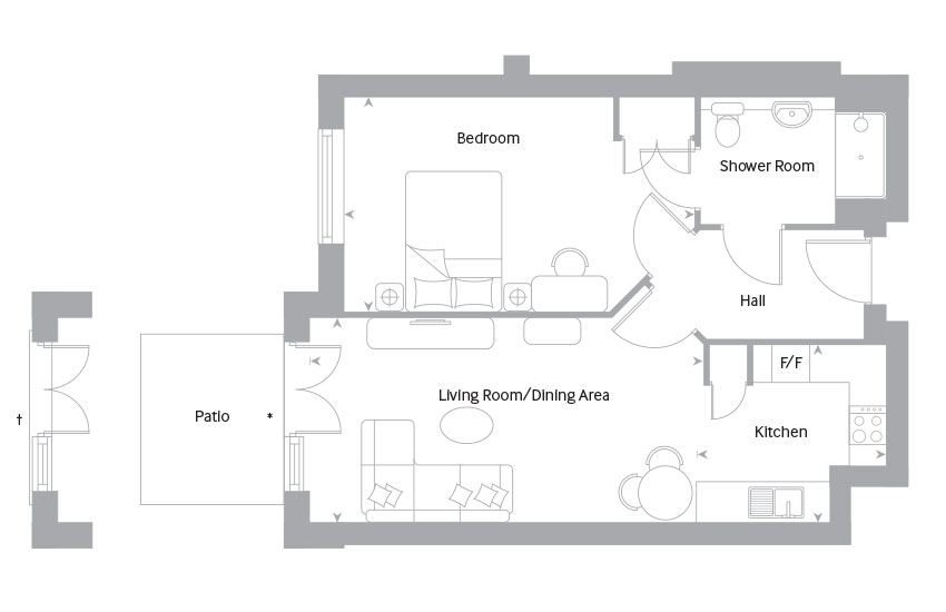 The Bourne floor plan
