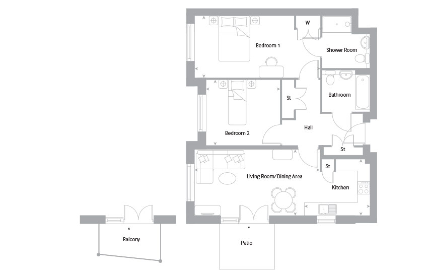 The Lewen 2 floor plan